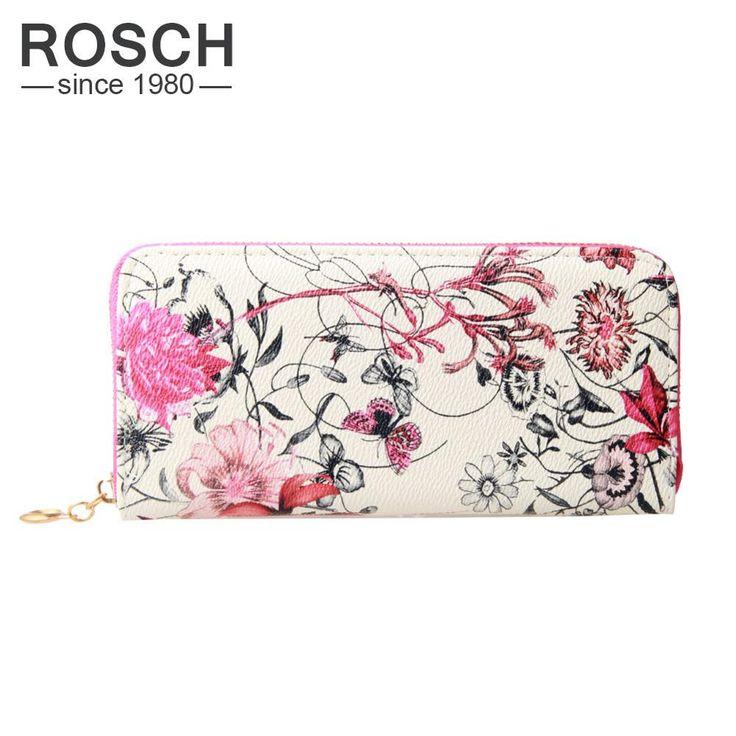 Hot New Floral Print Women Wallet Purse Flowers PU Leather Women Long Luxury Brand Wallet Female Cute Black Day Lady Clutch