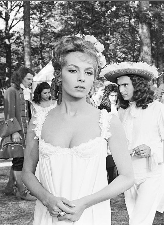 Shooting Of The Film 'Angelique Et Le Roy' By Bernard Borderie