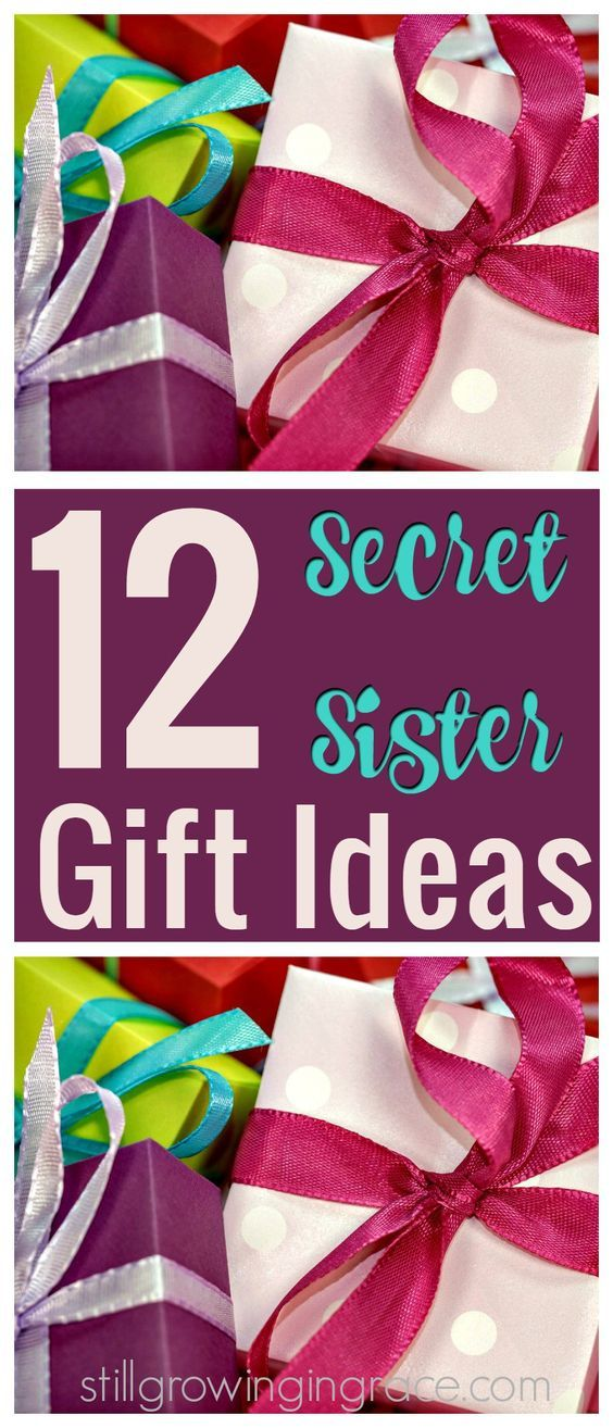 12 Secret Sister Gift Ideas. If you're having trouble thinking of what to get her! Here's some inexpensive gift ideas! stillgrowingingrace.com