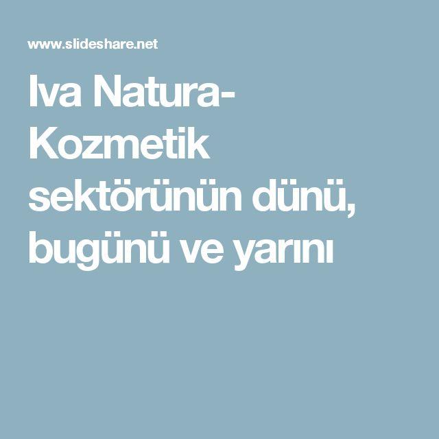 Iva Natura- Kozmetik sektörünün dünü, bugünü ve yarını
