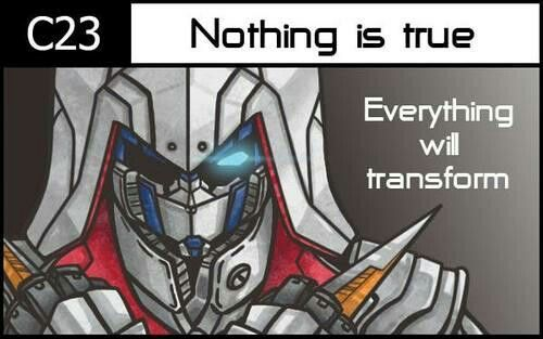 Crossover Transformers and Assassin'Creed