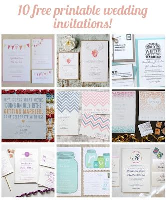 Best resource for gorgeous free wedding invitations and other awesome printables.