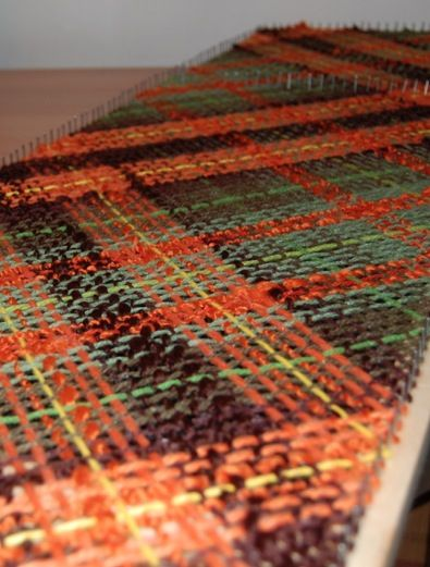 Rainy forest palette in rectangular loom