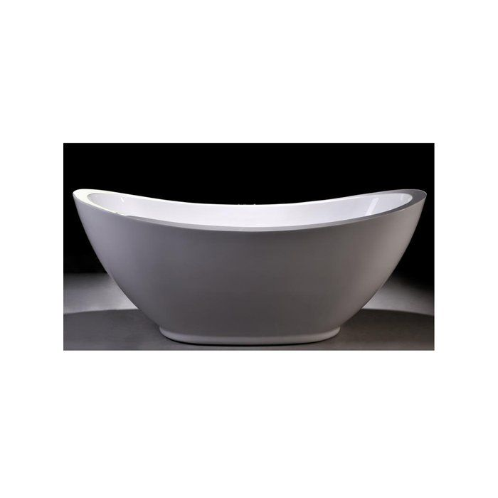 Enhance Your Bathroom With This Stylish White Acrylic Soaking Bathtub. This  Attractive Bathtub Boasts Clean Nice Design