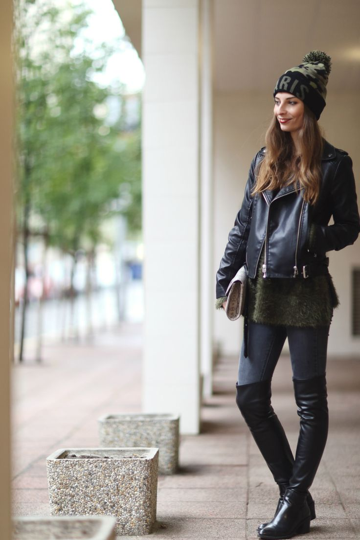 TALLY WEIJL hat   H&M jumper   PRIMARK jeans   ZARA boots   MANGO jacket   TOPSHOP bag.