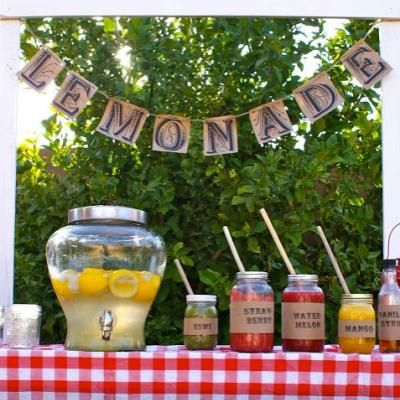 Lemonade Bar {party ideas}