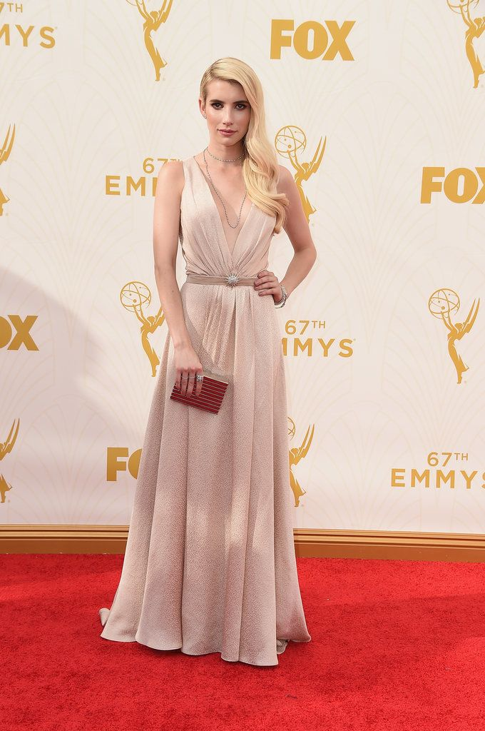 See Every Look From the Emmys Red Carpet: We set our DVRs religiously, binge-watch when their shows hit Netflix, and generally flip out at every premiere and finale, but there's nothing like seeing our favorite small-screen actors glammed up for the Emmys.