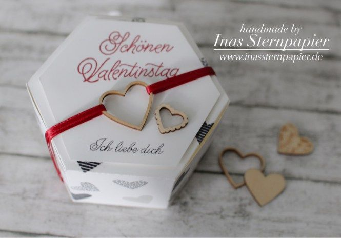 Stampin Up Valentinstag Verpackung Fensterschachtel 2017 Frühling Herzen