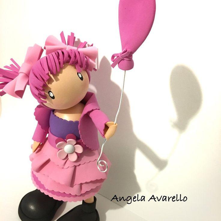 Schemi, tutorial, cartamodelli, bambolina, gomma crepla, fommy, Eva foam, by Angela Avarello Creazioni, 4,00 € su misshobby.com