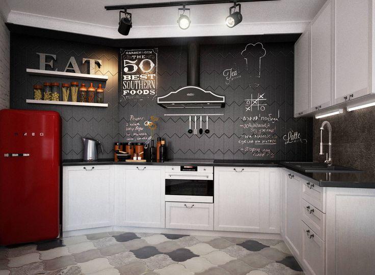 Кухня-гостиная : Кухня в стиле лофт от Reroom