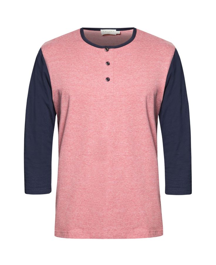 Slip this tee on when you hangout with friends. Contrast Sleeve Henley Tee by Zalora, color block t-shirt made from cotton, with red and navy blue color, round neck, front button , regular fit, pair it with your jeans for casual style. http://www.zocko.com/z/JK1Me