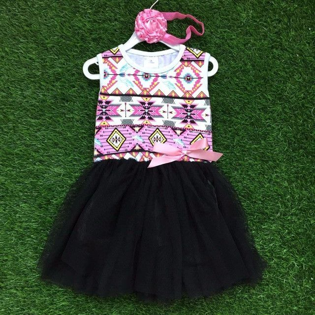 Pink Aztec Party Dress