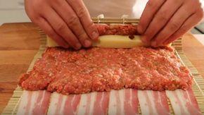 Pečená rolka zo slaniny, syra a mletého mäsa – výborná a rýchla večera!