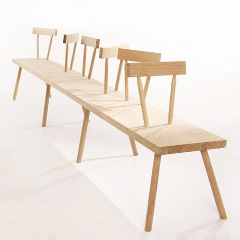 Bodge Bench By Gitta Gschwendtner   Stepney Green Design Collection