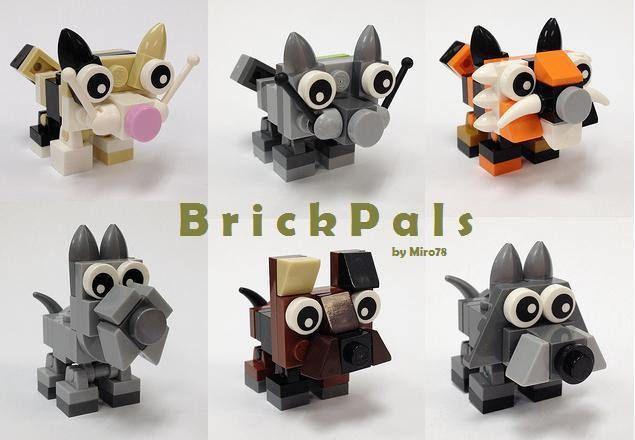 https://flic.kr/p/oVcYzJ   BrickPals Six-pack   BrickPals animal desktop buddies. Soon available individually at BrickLink's MOC Shop.