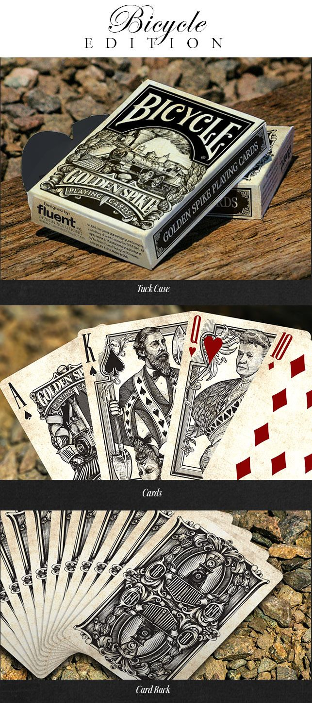 Golden Spike Bicycle® Playing Cards by Jody Eklund — Kickstarter