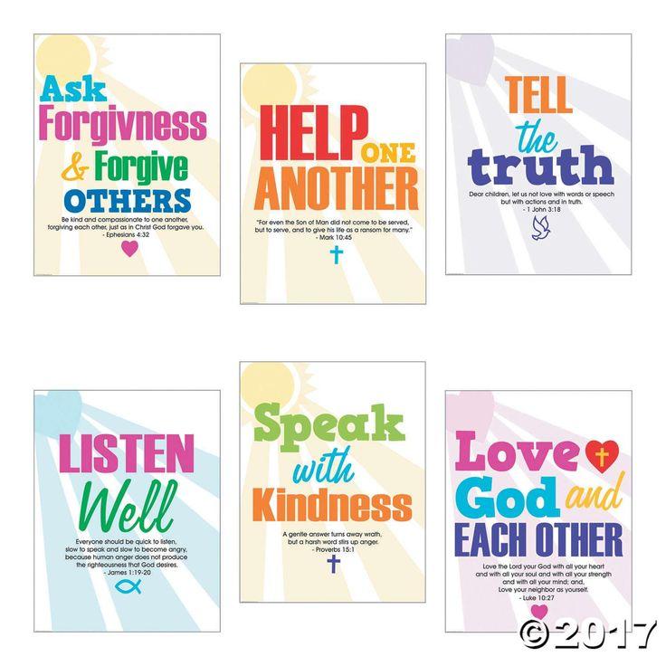faith classroom rules poster set