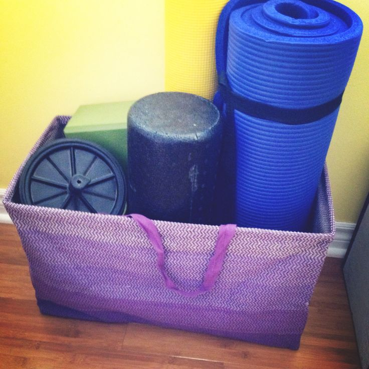 Home Gym Storage Ideas: Workout Gear Storage From The Container Store. Fit My
