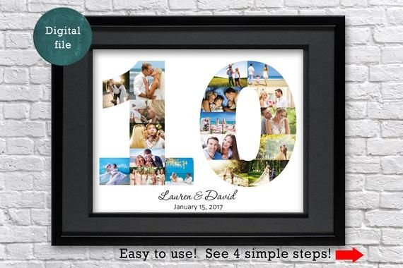 10 Year Anniversary Gift Photo Collage Tin Anniversary Gift Etsy 18th Birthday Gifts 10 Year Anniversary Gift Tin Anniversary Gifts