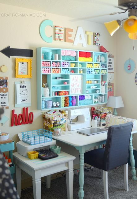 Full Craft Room Reveal - Craft-O-Maniac