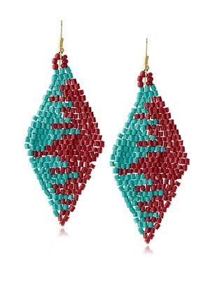 49% OFF Chloe & Theodora Beaded Kite Earrings