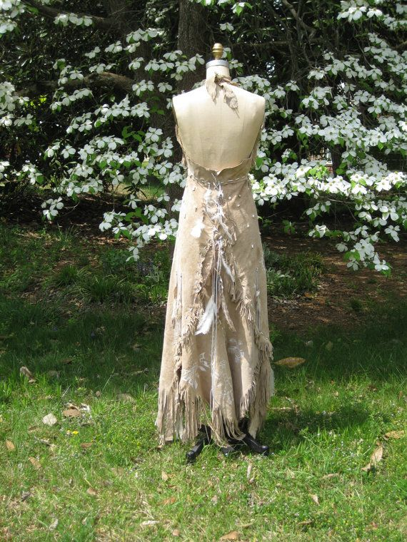 leather wedding dress native american inspired by hippiebride 1695