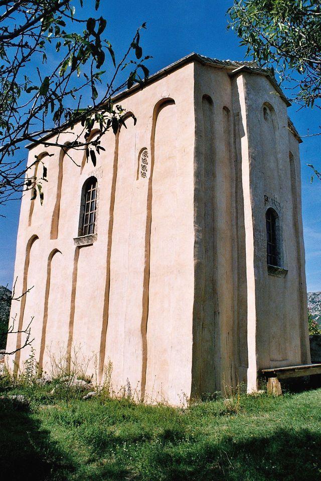 The pre-Romanesque church of Sv. Mihajlo (St. Michael) near Ston, 11th century  #croatia #preromanesque