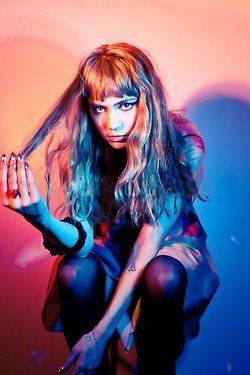 Grimes, she is a fave of mine. She is so unique and weird, inspiration to the music I would like to create.