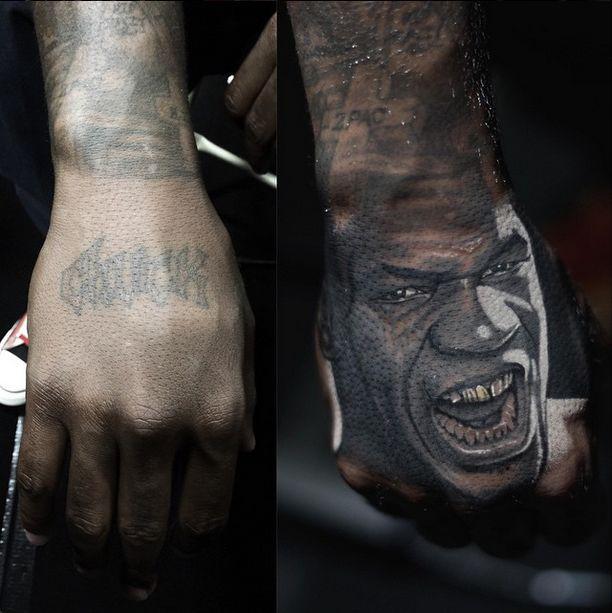 Nikko hurtado tattoos mike tyson 39 s portrait on the game for The game tattoos