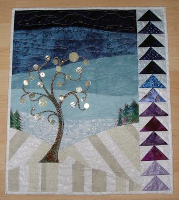 Four Seasons Quilt Swap: Winter Quilt ... colors, patterns, buttons, everything gorgeous ... i want one ... by tami at lemontreetales