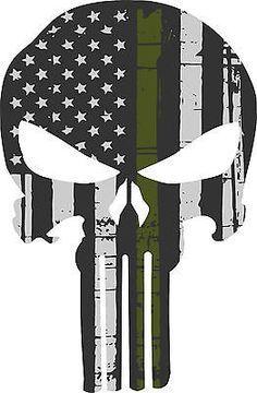 Punisher Skull Bandera Americana Verde Oliva Militar Sticker Gráficos-Gran Variedad De Tamaños in eBay Motors, Piezas y accesorios, Piezas para autos y camionetas | eBay