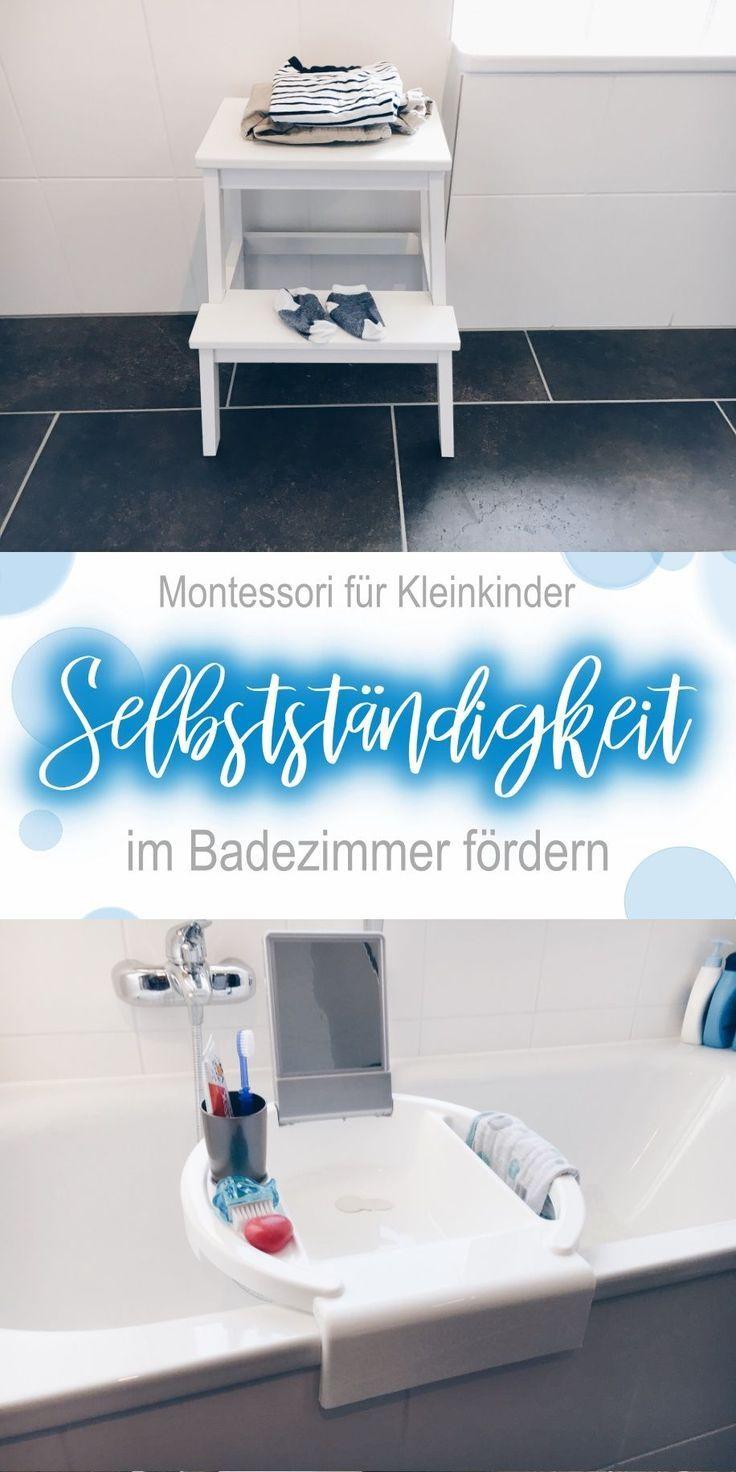 Die Vorbereitete Umgebung Kleinkindern Viel Selbststandigkeit Im Badezimmer Ermoglichen Kind Kuche Chaos Vorbereitete Umgebung Kleinkind Kinder Badezimmer