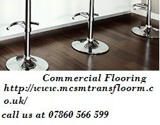 All commercial environments have their own unique requirements. There are many kinds of commercial flooring available, so it's always a good idea to meet with commercial flooring experts to get advice on which type of flooring is most suitable for your setting. Contact us through email at : transfloorm@yahoo.co.uk or call us at 07860 566 599 / 01453 799 326 or http://www.mcsmtransfloorm.co.uk/