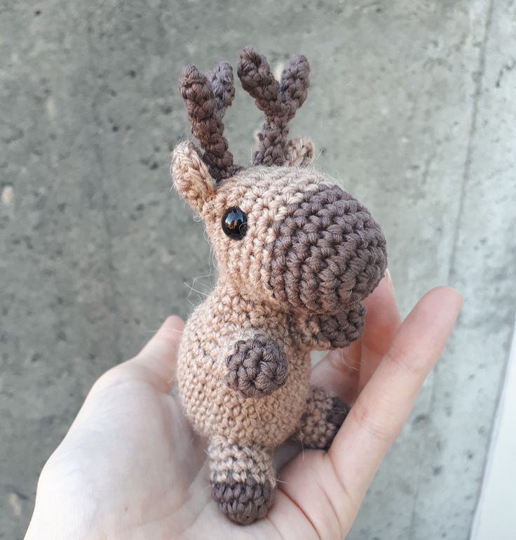 reindeer crochet pattern