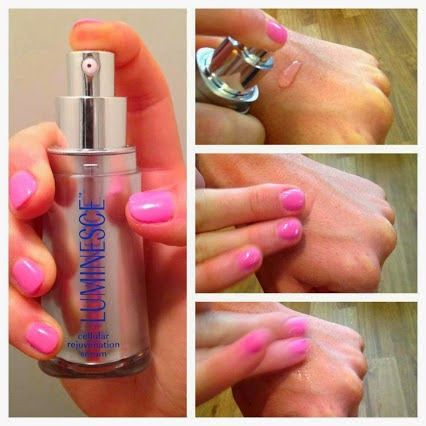 A great way to apply your #LUMINESCE™   cellular rejuvenation serum by #Jeunesse is from the back of your hand. Just press down once on the pump and then use your fingertips to apply the serum to your face. This way no product goes to waste AND your hand gets a treatment. Alternate between hands when applying morning/night.