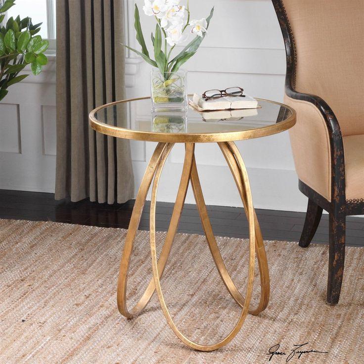 Uttermost 24410 Montrez Gold Accent Table | ATG Stores