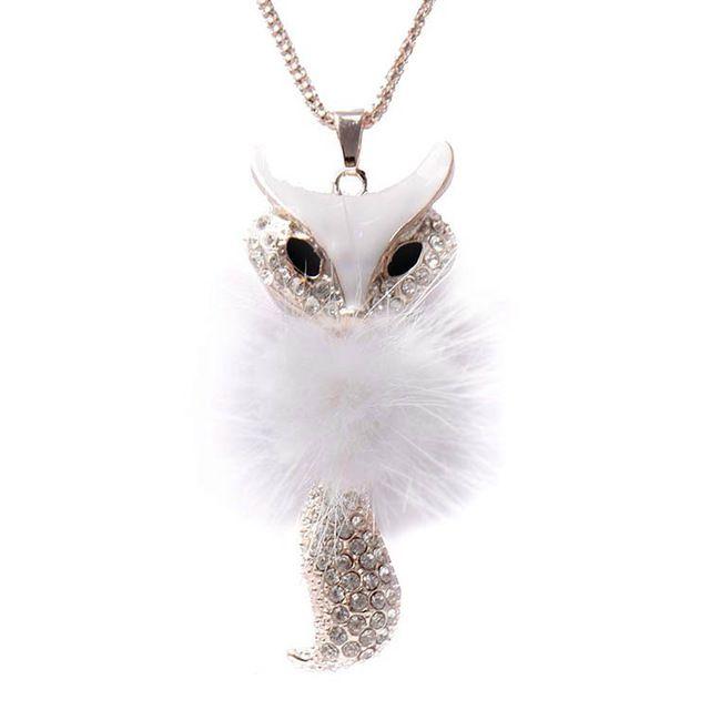 Lackingone ювелирные изделия * 2015 рождественский подарок Искусственного перо ожерелья & подвески Маленькая Лиса Ожерелье бесплатная доставка