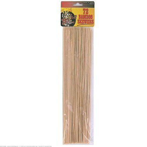 96 Huge set of bamboo skewers (72 count) . $116.99. Fire up the barbecue, because these skewers are just waiting for some meat and vegetables to be threaded on them. This large assortment of skewers (72 in all) makes them an ideal item to keep around not just for barbecues but also for skewing fruit and other items. Kids love to thread fruits and veggies on skewers.