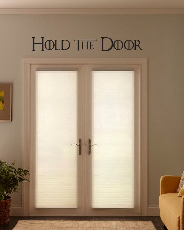 "Hodor ""Hold the Door"" quote got single line Wall Decor Vinyl Decal Sticker by BetterThanStickers on Etsy https://www.etsy.com/listing/294885613/hodor-hold-the-door-quote-got-single"