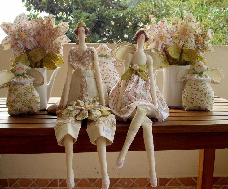 Festa Tilda campestre - kit decoração | Flor de Tule | Elo7
