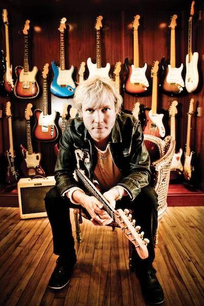 Kenny Wayne Shepherd in guitar shop. Photo by Elsa Hahne.