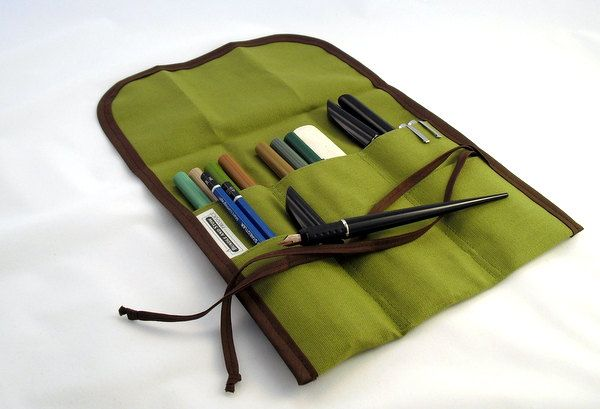 TALL Pencil Tool Roll -- Wood Nymph. $26.00, via Etsy.