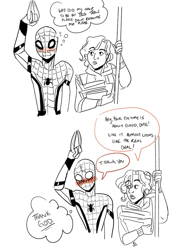 """""""""""""""#_""""""""""""!_I saw the trailer for Spiderman Homecoming and I can't stop drawing fanart I'm sorry. Note: He's on the subway cause his web shooter broke. At least that's my excuse."""