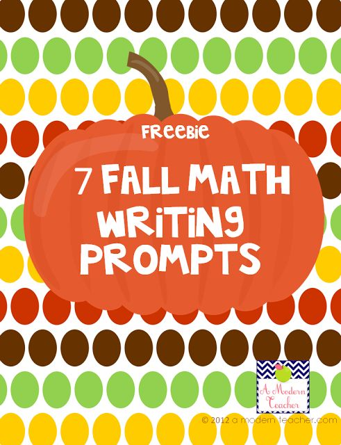 7 Fall Math Writing Prompts Freebie