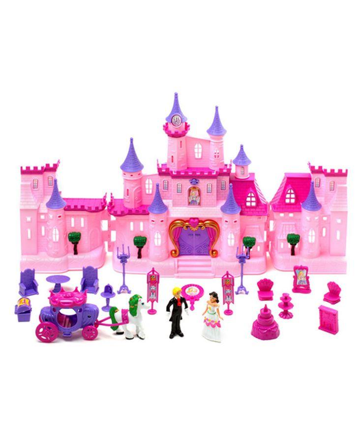 Dream Castle Light-Up Princess Doll House by Velocity Toys #zulily #zulilyfinds