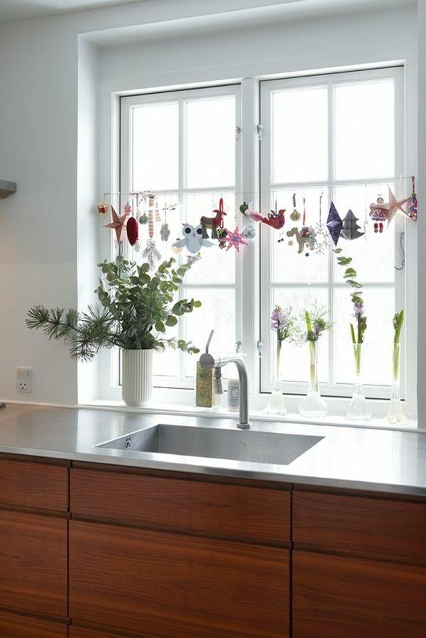 Küchenfenster dekorieren  28 besten Fenster Deko Bilder auf Pinterest | Gardinen vorhänge ...