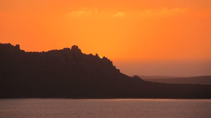 Sunset over the Langebaan Lagoon