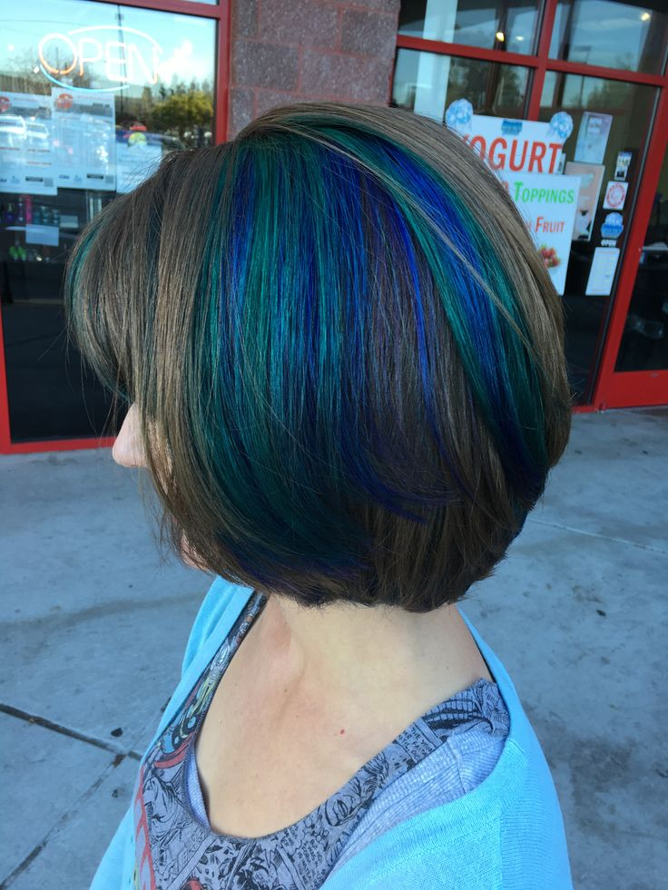 The 25 best purple peekaboo hair ideas on pinterest peekaboo my blue green and purple peekaboo hair happy 2016 pmusecretfo Images