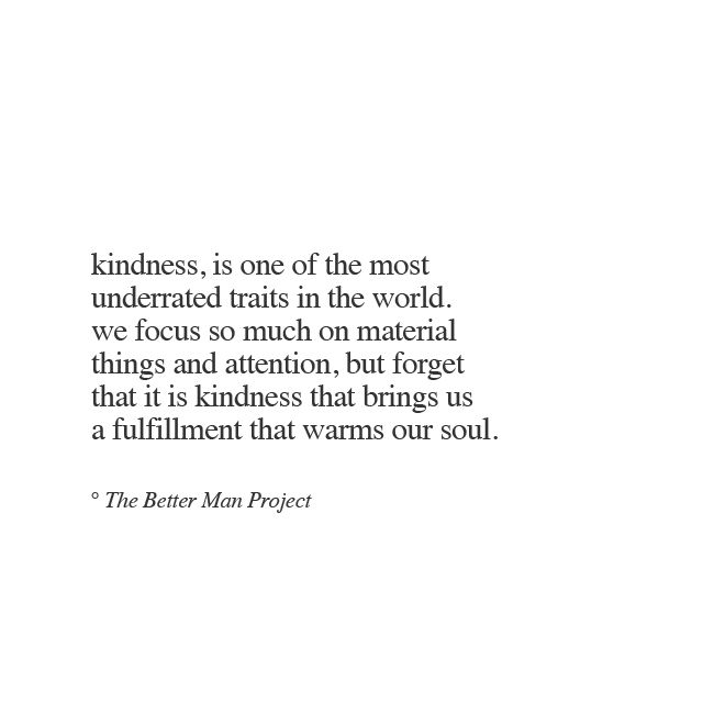above all...be kind