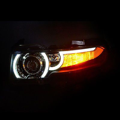 For Toyota FJ Cruiser 2007-2014 LED Headlight Halo HID+Car Grille+Ballast